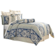 AICO La Rochelle 9-pc Queen Comforter Set in Cadet BCS-QS09-LARCH-CAD