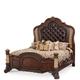 AICO Victoria Palace King Panel Bed in Light Espresso