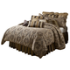 AICO Lucerne 12-pc Queen Comforter Set in Gold BCS-QS12-LUCERN-GLD