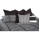 AICO Lucianna 10-pc King Comforter Set in Nori BCS-KS10-LUCIAN-NOI