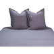 AICO McKenna 3-pc King Coverlet/Duvet Set in Charcoal BCS-KD03-MKENA-CHR