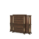 AICO Victoria Palace 6 Drawer Chest w/ Left and Right Piers in Light Espresso 61070CHEST-29