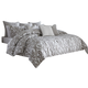 AICO Melrose Park 9-pc Queen Comforter Set in Gray BCS-QS09-MLRSP-GRY
