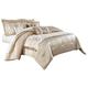 AICO Palermo 10-pc Queen Comforter Set in Sand BCS-QS10-PLRMO-SAN