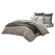 AICO Paragon 10-pc King Comforter Set in Taupe BCS-KS10-PRAGN-TAUP