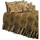 AICO Pontevedra 12-pc Queen Comforter Set in Olive BCS-QS12-PNTVDA-OLV