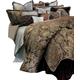 AICO Portofino 12-pc Queen Comforter Set in Brown BCS-QS12-PRTFNO-BRN