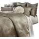 AICO Solitaire 12-pc Queen Comforter Set in Pewter BCS-QS12-SOLITR-PEW