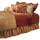 AICO Woodside Park 12-pc Queen Comforter Set in Spice BCS-QS12-WDSPRK-SPI