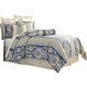 AICO Provence 10-pc King Duvet Set in Cadet BCS-KD10-PROVNC-CAD
