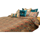 AICO Seville 10-pc King Comforter Set in Honey BCS-KS10-SEVILE-HNY