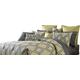 AICO Society Row 10-pc King Comforter Set in Slate BCS-KS10-SOCITY-SLA