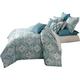 AICO Tucson 9-pc Queen Comforter Set in Turquoise BCS-QS09-TUCSON-TUR