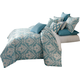 AICO Tucson 10-pc King Comforter Set in Turquoise BCS-KS10-TUCSON-TUR
