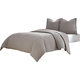 AICO Trent 3-pc King Coverlet/Duvet Set in Gray BCS-KD03-TRENT-GRY