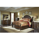 Aico Villagio 4pc Bedroom Set in Hazelnut