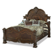 AICO Windsor Court Queen Mansion Bed in Vintage Fruitwood 70000QNMB-54