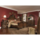 AICO Windsor Court 4pc Mansion Bedroom Set
