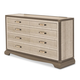 AICO Valise Upholstered Dresser in Amazon Tan Gator 9026650-110