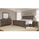 All-American Villa Sophia 4pc Sleigh Bedroom Set in Dark Roast