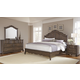 All-American Villa Sophia 4pc Shelter Bedroom Set in Dark Roast