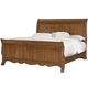 All-American Villa Sophia King Sleigh Bed in Antique Cherry