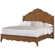 All-American Villa Sophia Queen Shelter Bed in Antique Cherry