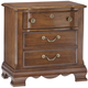 All-American Villa Sophia 3 Drawer Nightstand in Antique Cherry