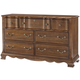 All-American Villa Sophia 7 Drawer Dresser in Antique Cherry