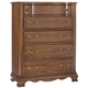 All-American Villa Sophia 5 Drawer Chest in Antique Cherry