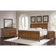 All-American Villa Sophia 4pc Sleigh Bedroom Set in Antique Cherry