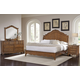 All-American Villa Sophia 4pc Shelter Bedroom Set in Antique Cherry
