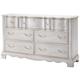 All-American Villa Sophia 7 Drawer Dresser in Whole Cream