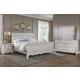 All-American Villa Sophia 4pc Sleigh Bedroom Set in Whole Cream