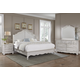 All-American Villa Sophia 4pc Shelter Bedroom Set in Whole Cream