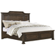 All-American Affinity King Mansion Storage Bed in Dark Roast