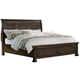 All-American Affinity Queen Sleigh Storage Bed in Dark Roast