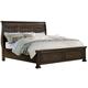 All-American Affinity King Sleigh Storage Bed in Dark Roast