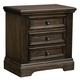 All-American Affinity 3 Drawer Nightstand in Dark Roast