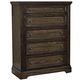 All-American Affinity 5 Drawer Chest in Dark Roast