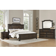 All-American Affinity 4pc Mansion Bedroom Set in Dark Roast