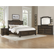 All-American Affinity 4pc Mansion Storage Bedroom Set in Dark Roast