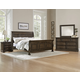 All-American Affinity 4pc Sleigh Bedroom Set in Dark Roast