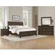 All-American Affinity 4pc Sleigh Storage Bedroom Set in Dark Roast