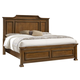 All-American Affinity King Mansion Bed in Antique Cherry