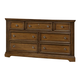 All-American Affinity 7 Drawer Dresser in Antique Cherry