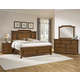 All-American Affinity 4pc Mansion Bedroom Set in Antique Cherry