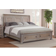 All-American Affinity King Sleigh Storage Bed in Reclaimed Gray