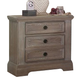 All-American Affinity 3 Drawer Nightstand in Reclaimed Gray