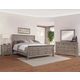All-American Affinity 4pc Sleigh Bedroom Set in Reclaimed Gray